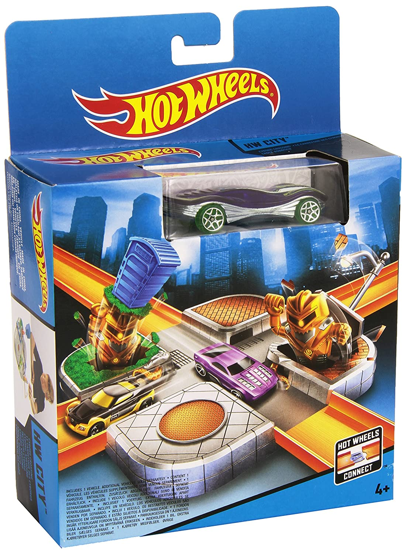 Hot Wheels City Track Set Cyborg Crossing (Cdm46) Mattel 018318