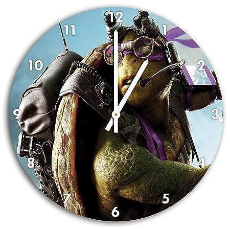 foto Las Tortugas Ninja en el reloj de pared con blanco ...