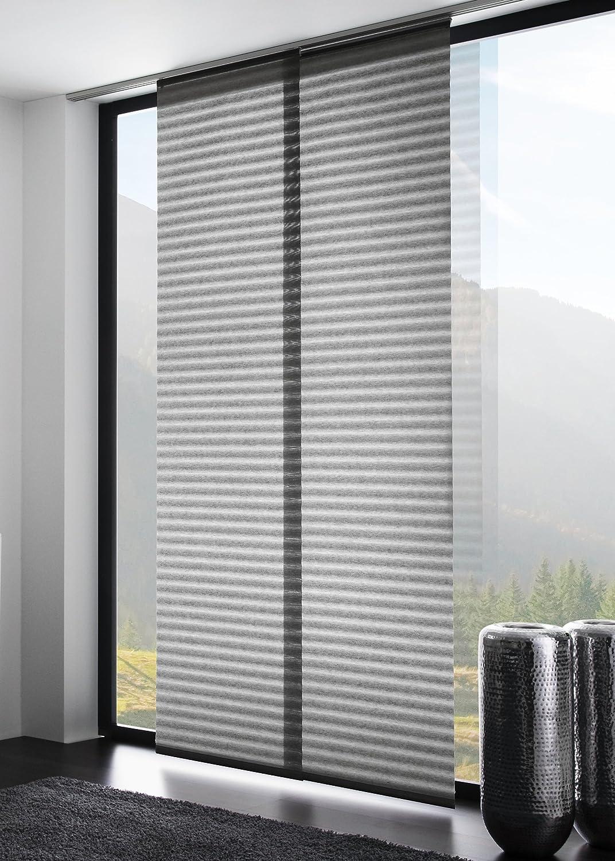 schiebegardine grau transparent stroyreestr. Black Bedroom Furniture Sets. Home Design Ideas