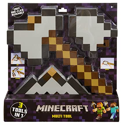 Amazon Com Minecraft 3 In 1 Muti Tool Pack Toys Games