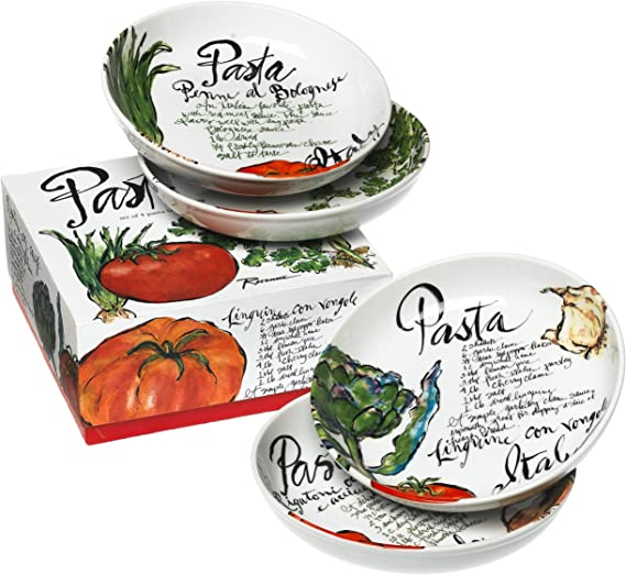 Rosanna Pasta Italiana Dipping Dish Set of 4 New in Gift Box UK Seller Free P/&P