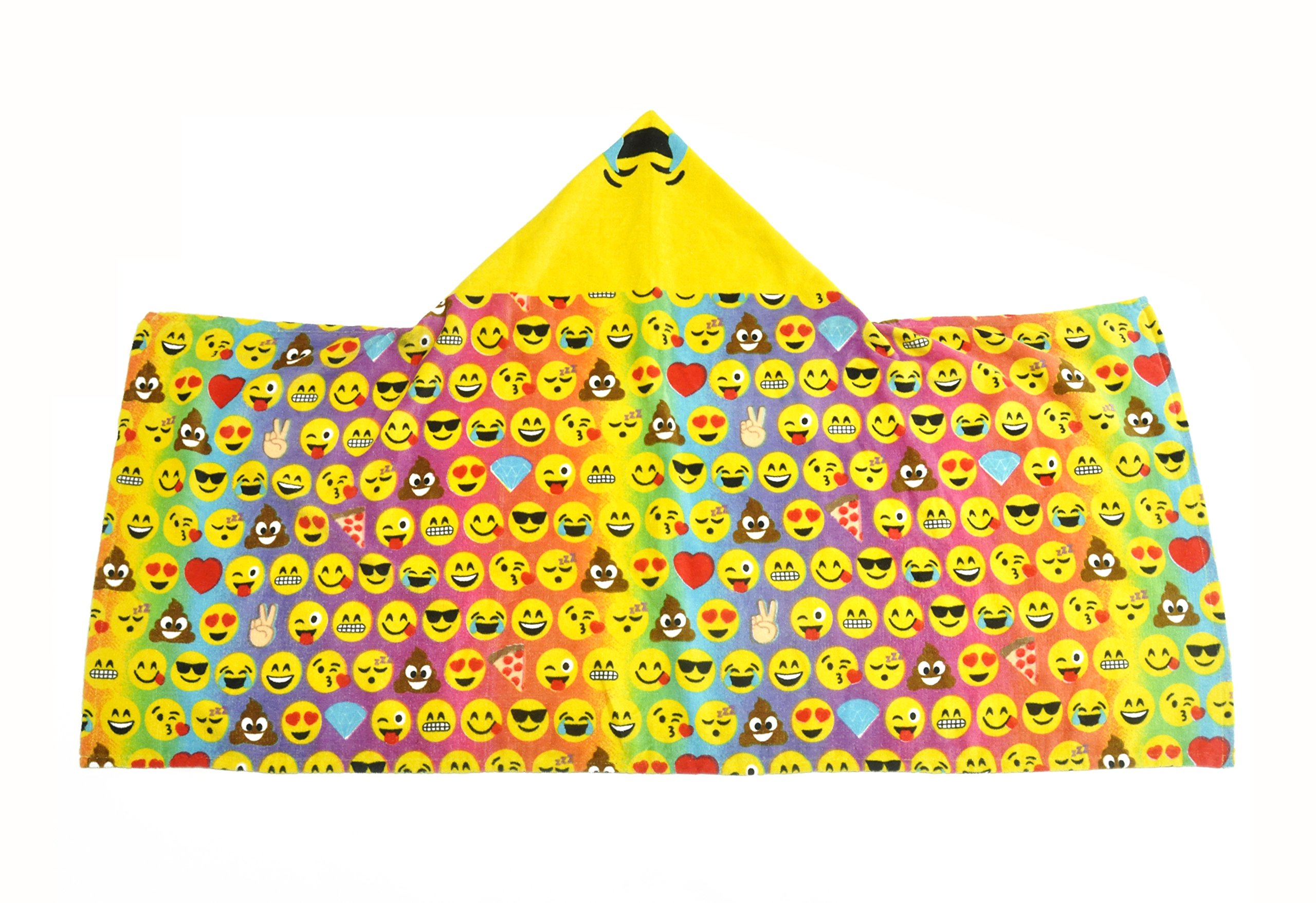 Emoji Pals  Rainbow Hooded Towel, Multicolor by Emoji Pals (Image #2)