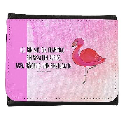 Mr. & Mrs. Panda Flamingo Classic – Cartera compacta Flamenco, Exclusiva, Amor