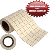 "Angel Crafts 6"" by 50' PREMIUM Transfer Paper Tape Roll with Grid - PERFECT ALIGNMENT for Cricut or Silhouette Cameo Self Adhesive Vinyl for Walls, Signs, Decals, Windows, and More"