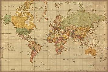 weltkarte antik Amazon.de: empireposter 747099 Landkarten   Weltkarte Antik  weltkarte antik