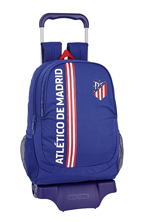 "Atlético de Madrid ""In Blue"" Oficial Mochila Escolar Con Carro 330x150x430mm"