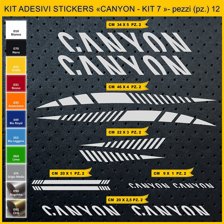 Kit Pegatinas Stickers Bicicleta Canyon - Kit 7-12 Piezas- Bike ...