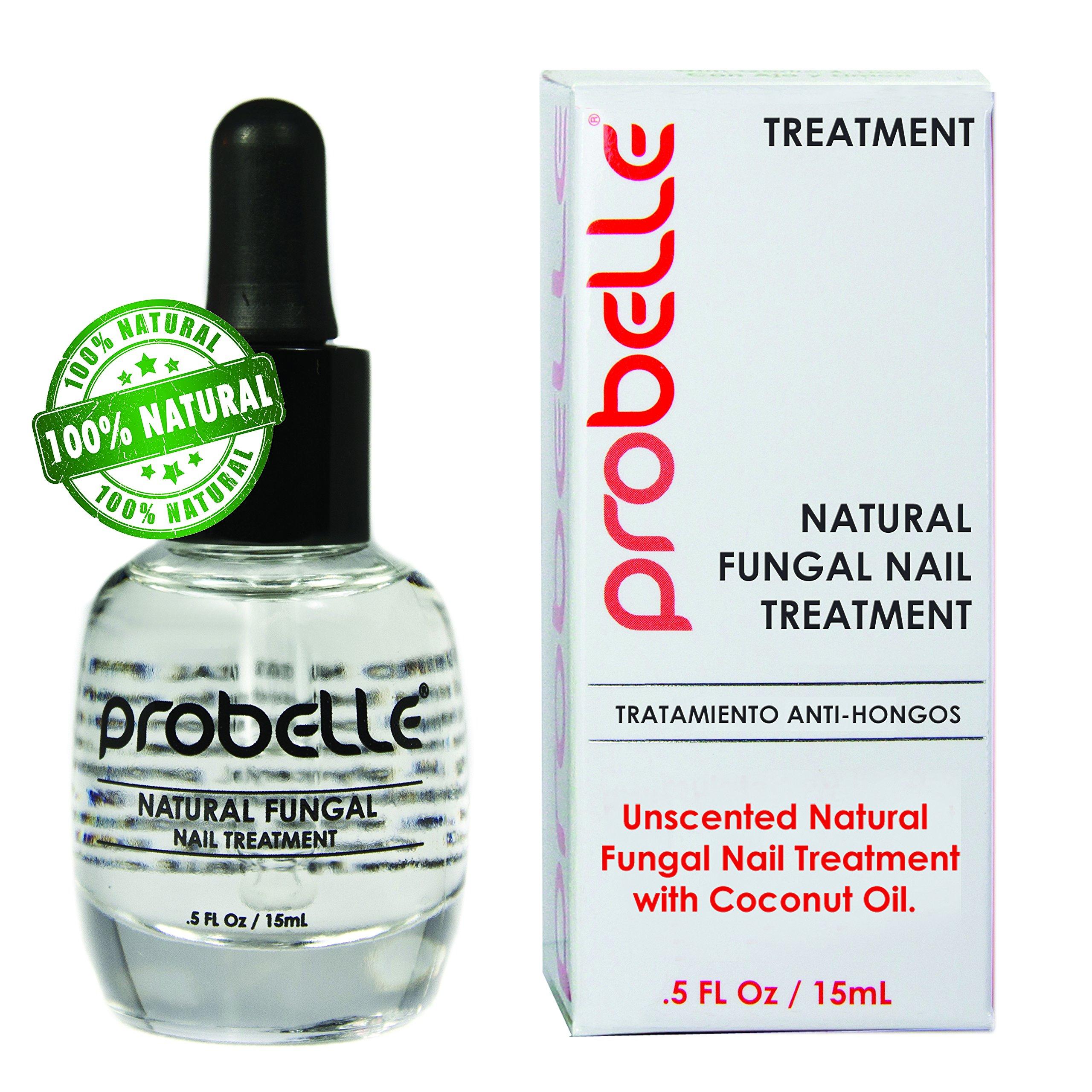Probelle Natural Fungal Nail Treatment, Anti Fungal Nail Treatment, Nail Color Restoration, Clear.5 oz/ 15 ml (Patented Formula)