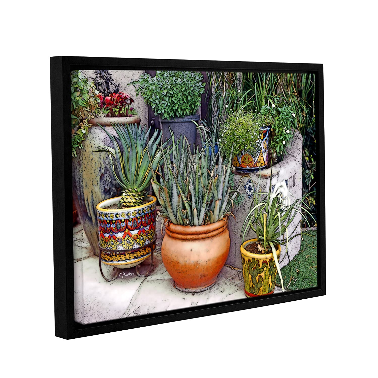 ArtWall Linda Parkers Southwest Potted Garden Gallery Wrapped Floater-Framed Canvas 24 x 32 24 x 32 0par119a2432f