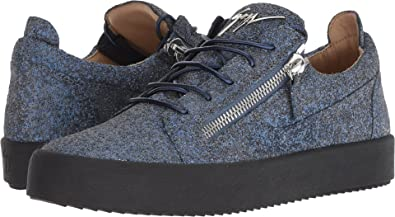 65e8d16a6fdb30 Giuseppe Zanotti Men's May London Glitter Low Top Sneaker Ocean 41 ...
