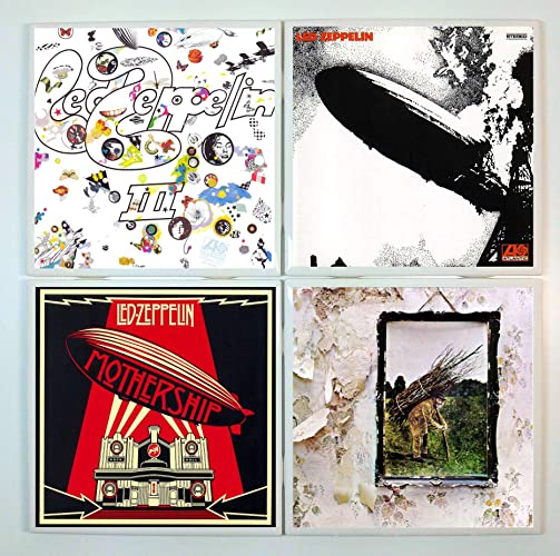 Amazon com: Led Zeppelin Coasters - set of 4 tile coasters