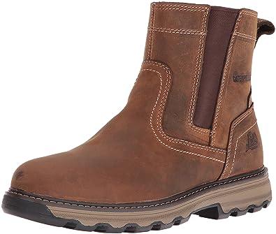 Caterpillar Men's Pelton Chelsea Boot,Dark Beige Full Grain Leather,US ...