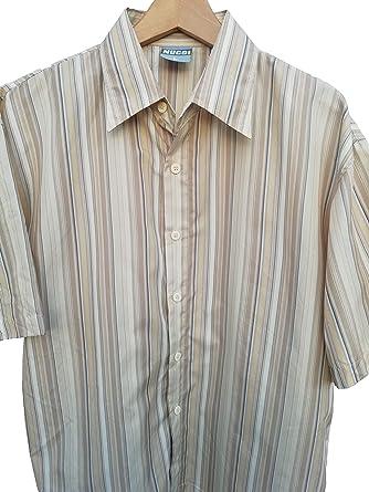 Camisa Hombre Vintage Estilo Hawaiana de Manga Corta, Talla L de Corte Ancho Apta para XL, Casual Ideal para el Verano: Amazon.es: Ropa y accesorios