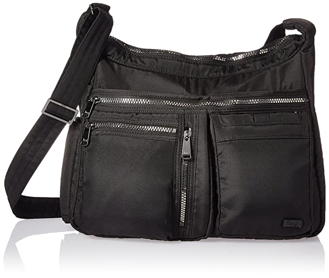 1bdcd8202034 Lug Double Dutch Cross-Body Bag, Brushed Black, One Size (Model:4926 ...