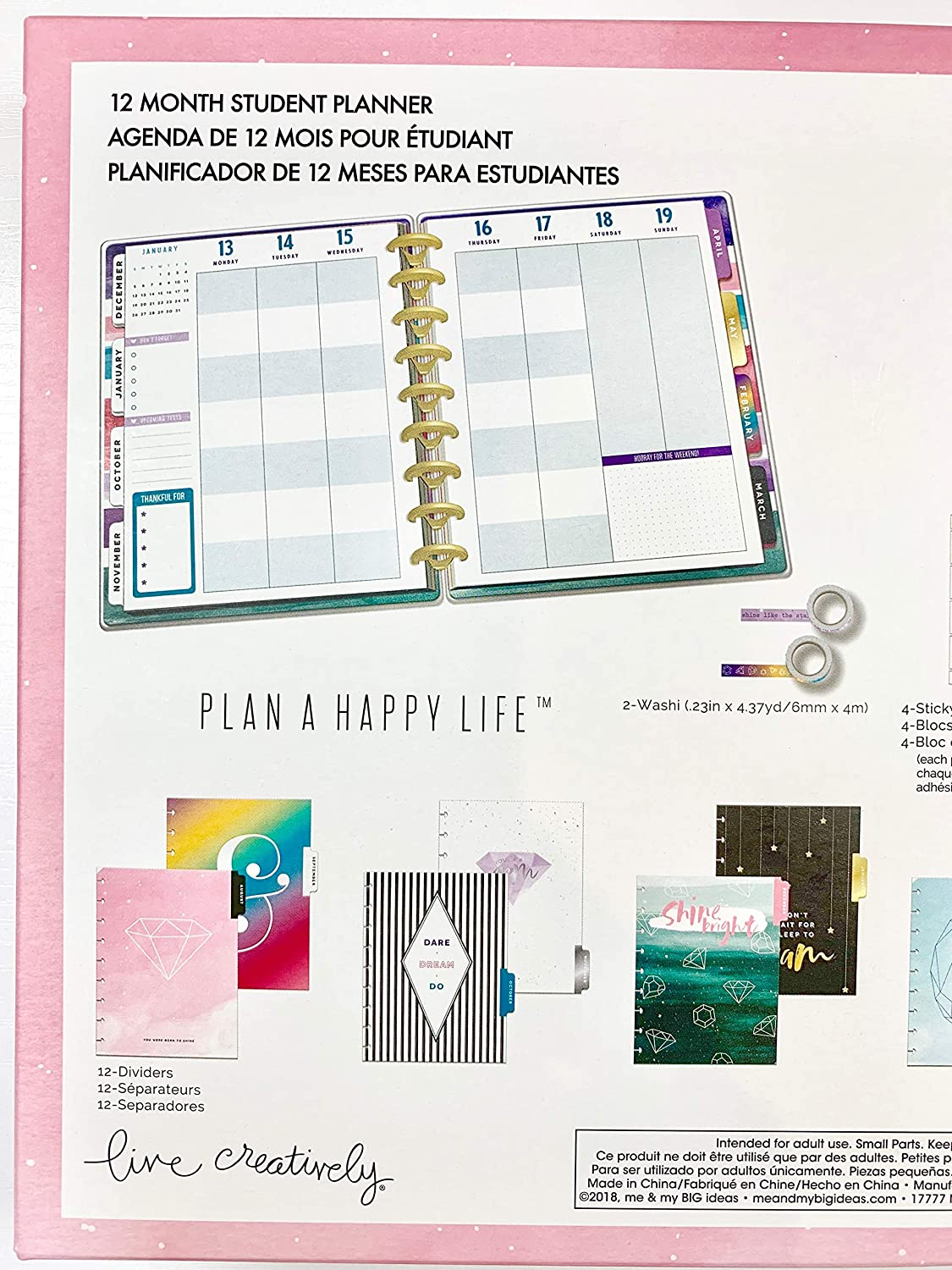 Amazon.com : The Classic Happy Planner - Stardust Magical ...