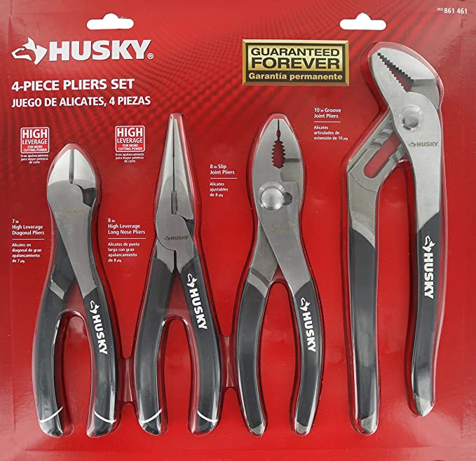 2 HUSKY SMALL PLIERS ONE OF EACH STYLE NEW BUY 2 OR MORE SAVE 15/%