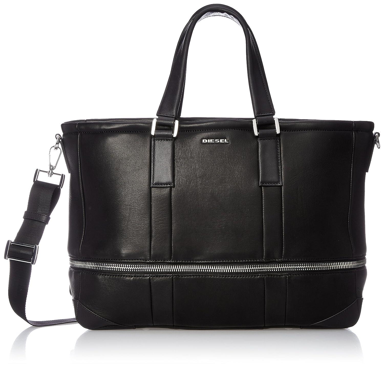 (ディーゼル) DIESEL メンズ トートバッグ ZIP AROUND L-ZIPROUND TOTE shopping bag X05324P1006 B078KGJ4ZLブラック UNI (Free)