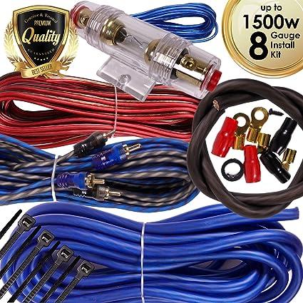 8 GA Gauge 1200 Watt High Power Car Amplifier AMP Wiring Installation Kit