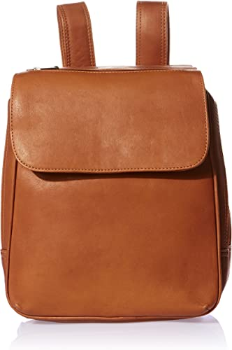 Piel Leather Flap-over Tablet Backpack, Saddle, One Size