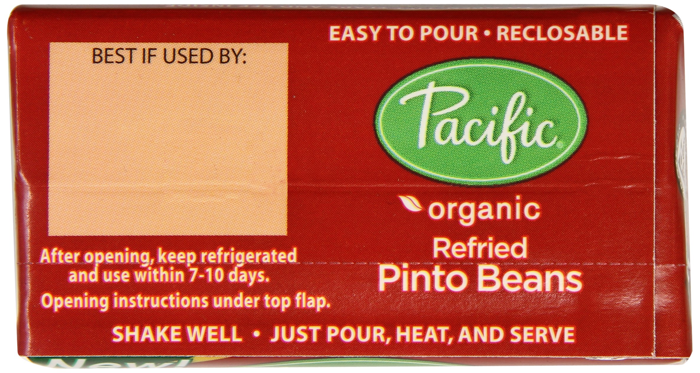 Pacific Foods Organic Traditional Refried Pinto Beans, 13.6-Ounce Boxes, (Pack of 12)