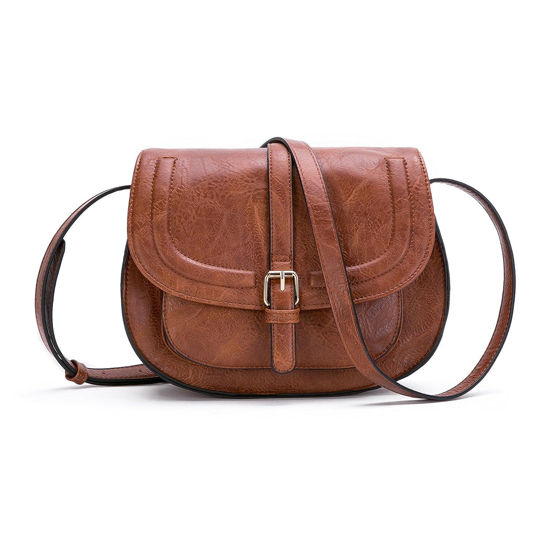 85dc38d6b1efa Amazon.com  Women Crossbody Satchel Bag Small Saddle Purse and Tote  Shoulder Handbags  Shoes