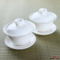 Traditioneller chinesischer Gaiwan aus Bone China Porzellan (2)