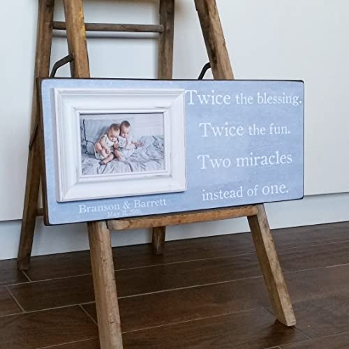 amazon com twins gift twin frame twins first birthday boy girl