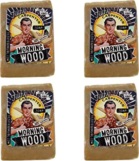 product image for Novelty Handmade Mini Gift Soap Bars 4 Bars Per Order by Filthy Farmgirl (Morning Wood)