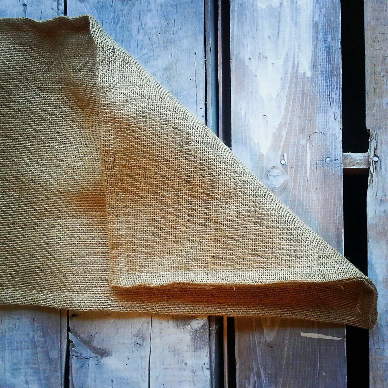 Natural Burlap Table Runner-Double Sided/Reversible