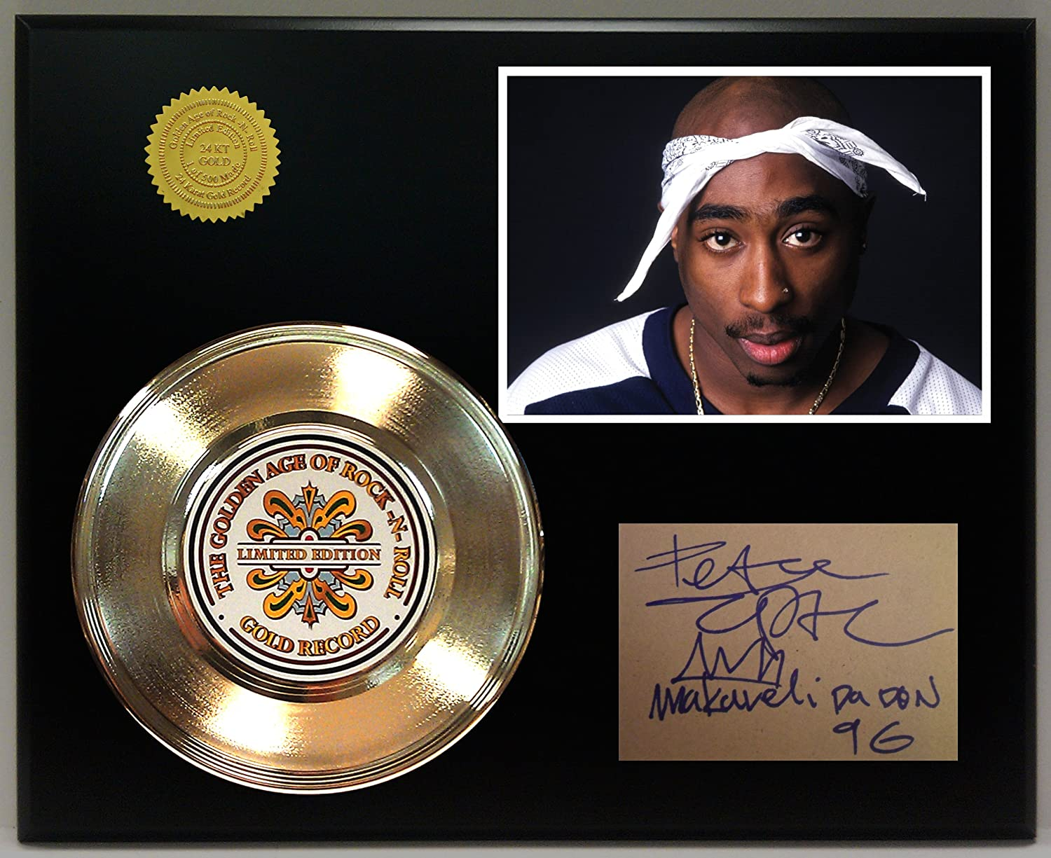2Pac Gold Record Signature Series LTD Edition Display Gold Record Outlet