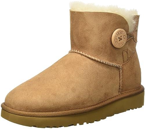 Descuento Nicekicks Zapatos grises UGG Australia Bailey Button para mujer Costo El más nuevo precio barato Venta de venta en línea 9T8DYyU