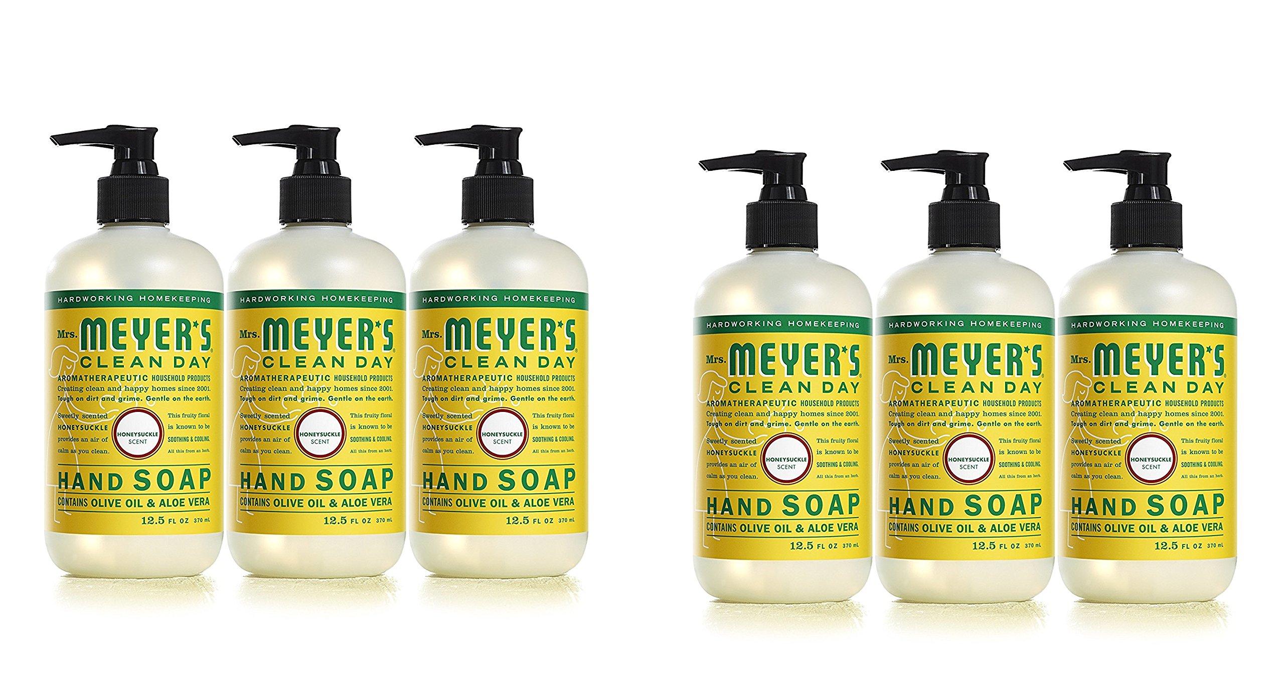 Mrs. Meyers Clean Day Hand Soap, Honeysuckle, 12.5 fl oz each, 6 Pack