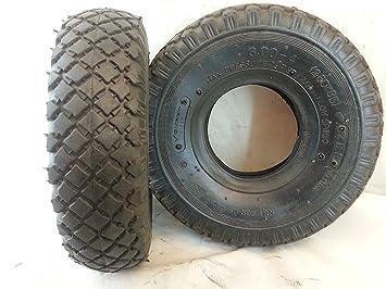 Cubierta para rueda, neumático 3,00-4 para motos pequeñas, carros, quads, de caucho, 1 unidad: Amazon.es: Coche y moto