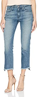 product image for James Jeans Women's Hi-lo Straight Stepped Hem High Rise Jean in Velocity