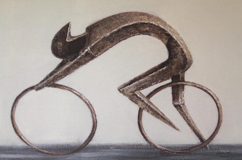 AAF Nommel Poster Leinwandbild Motiv Radfahrer Racer 50 x 80 cm Öl auf Leinwand Nr. 001