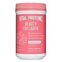 Vital Proteins Beauty Collagen for Women (Strawberry Lemon, Canister) - 120mg of...