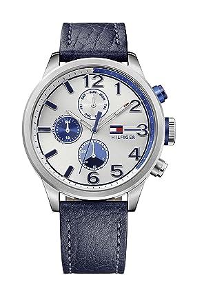 Reloj para hombre Tommy Hilfiger 1791240, mecanismo de cuarzo, diseño con varias esferas, correa de piel.: Tommy Hilfiger: Amazon.es: Relojes