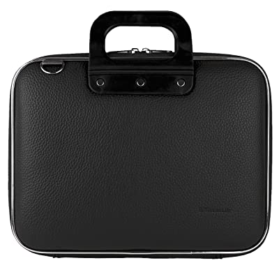 """Sumaclife PU Leather Semi Hard Shell Briefcase Shoulder Bag College Satchel (Black) for Acer Iconia One 10 / Tab 10 / Switch One 10 / Aspire Switch Series 10.1"""" Tablet Laptop"""
