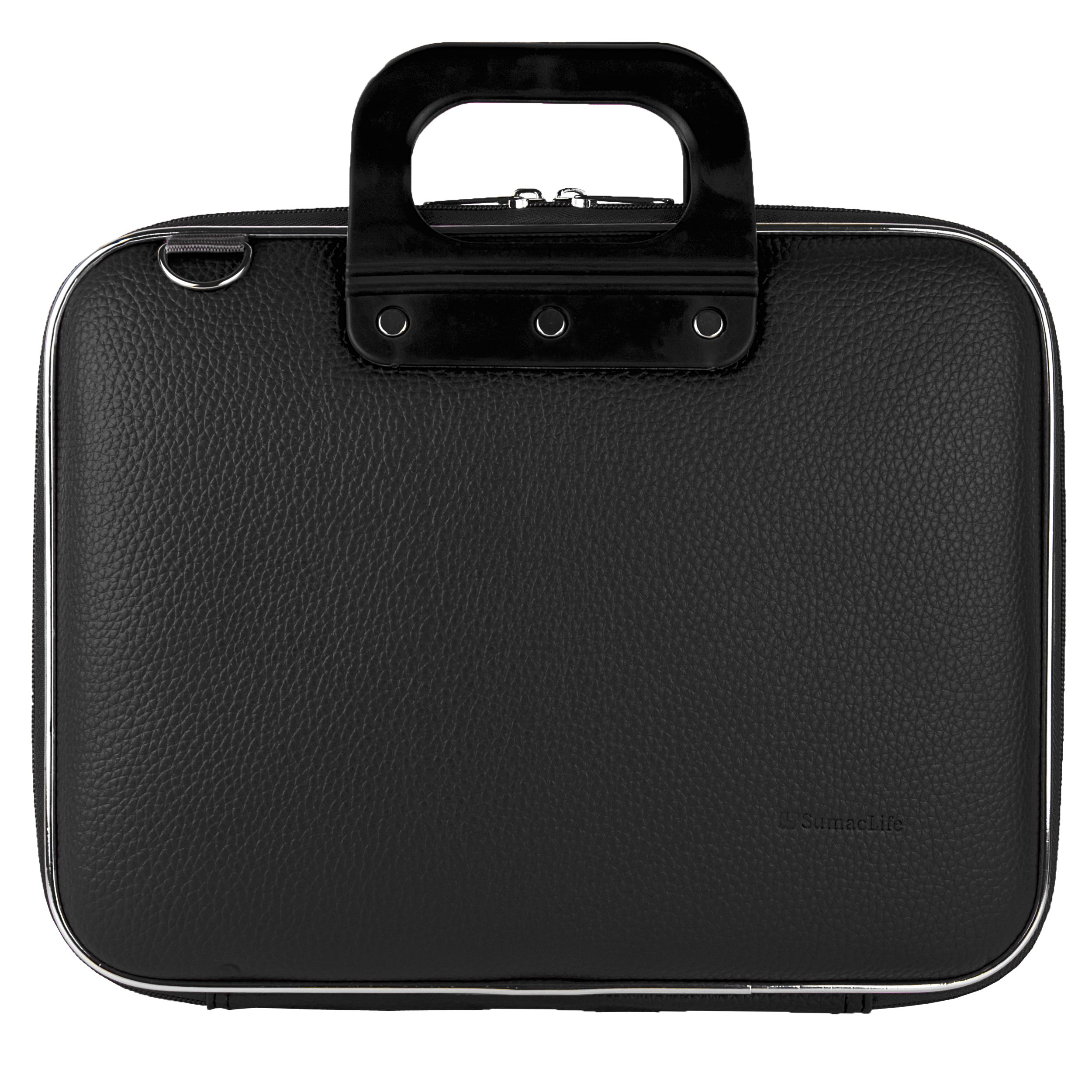 Black Cady Executive Leather Hard Cube Carrying Case with Shoulder Strap Barnes & Noble NOOK HD+ 9 Inch Touch Screen Android Table