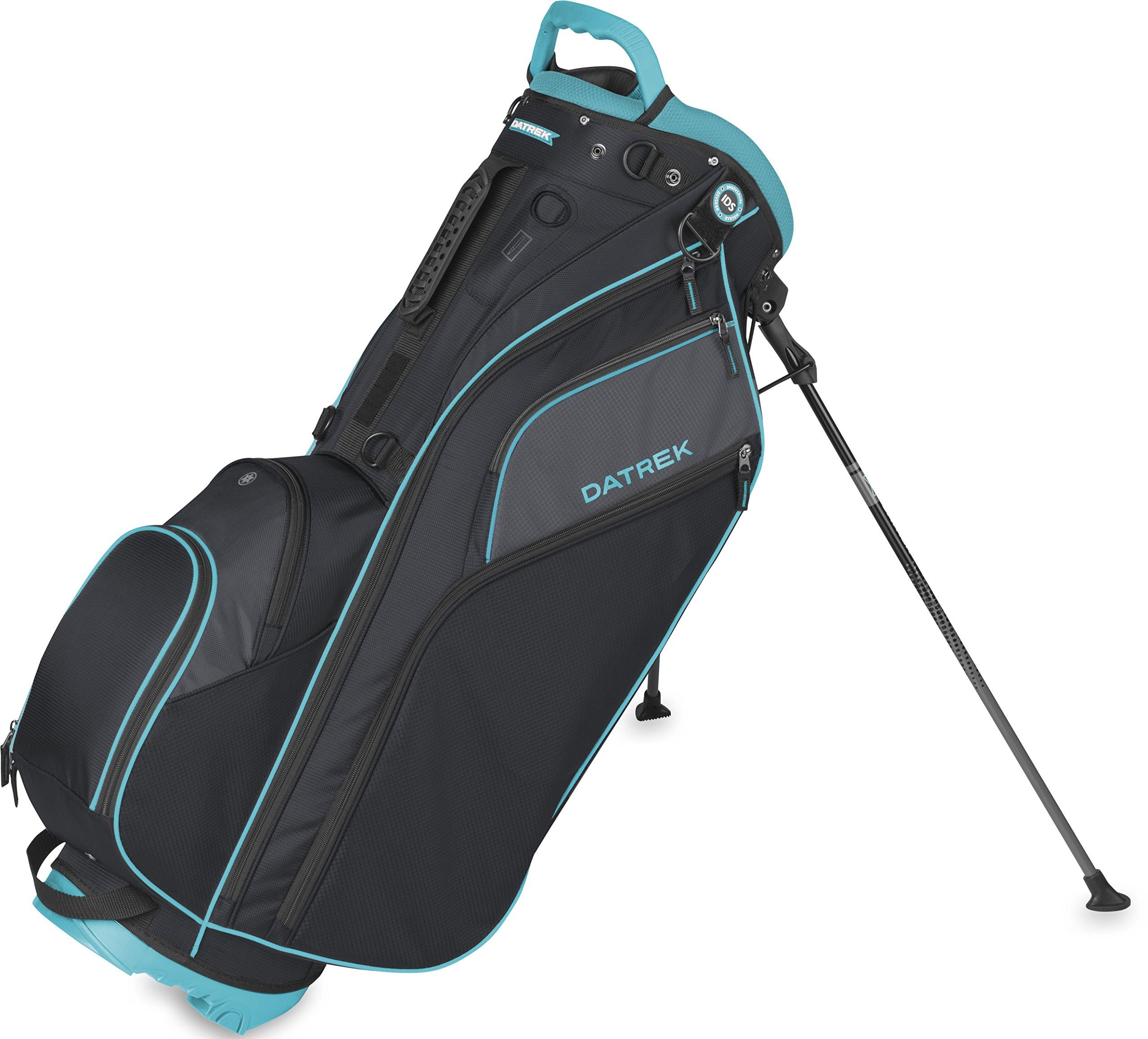 Datrek Golf Go Lite Hybrid Stand Bag (Black/Slate/Turquoise) by Datrek