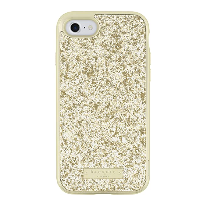 online store 4c323 eb3be kate spade new york Glitter Case with Bumper for iPhone 7 - Exposed Glitter  Gold/Gold