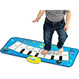 Discovery Kids - Alfombrilla de música para teclado de piano con canciones infantiles integradas y reproducción de…