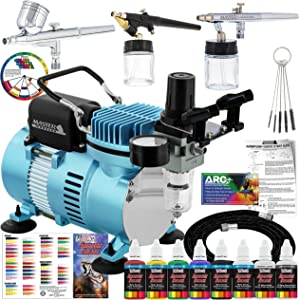Master Airbrush Professional Cool Runner II Dual Fan Air Compressor