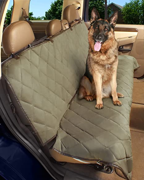 Amazon.com : Deluxe Pet Car Seat Cover, Quilted, Water Resistant ...