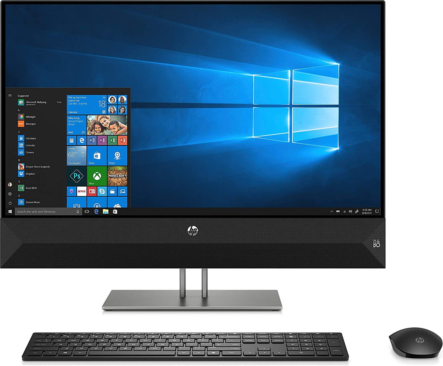 HP 27-xa0013w Pavilion 27-A0013W AiO 27 in, AMD Ryzen 5 2600H, AMD Radeon Vega 8 Graphics, 1TB HDD, 8GB RAM, Touch Desktop