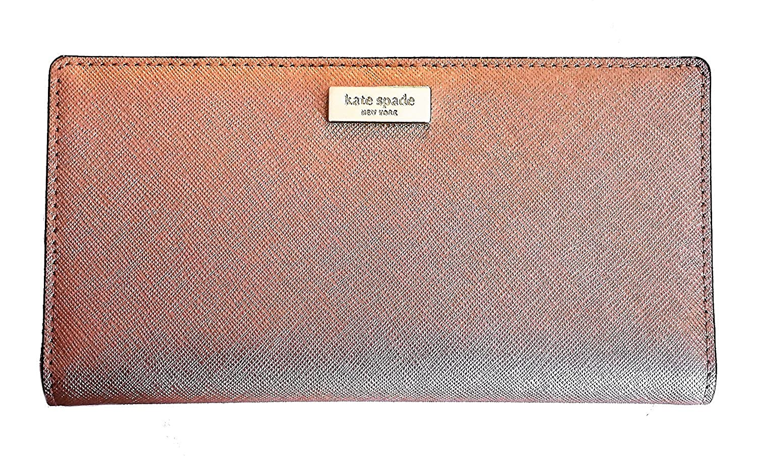 Kate Spade New York Laurel Way Stacy Saffiano Leather Wallet Rosegold 00_ZFWDOBKS_02
