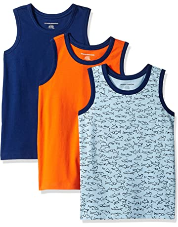79d0794b Amazon Essentials Boys' 3-Pack Tank Top