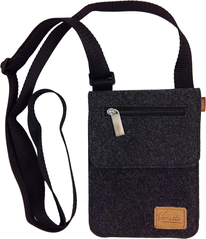 Grau Kleine Umh/ängetasche Schultertasche Handtasche Freizeittasche Damentasche Brusttasche Herren-Tasche Unisex