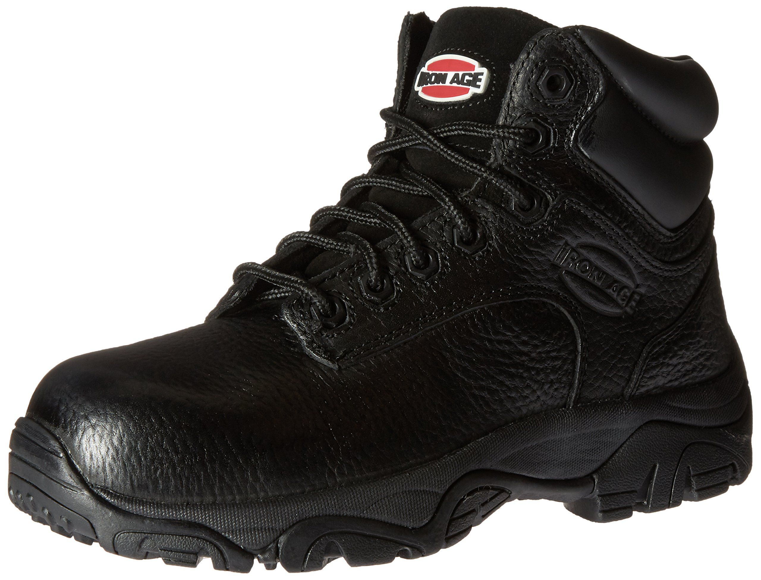 Iron Age Women's IA507 Trencher Fire and Safety Shoe, Black, 6 W US