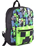 Minecraft All Over Print Kids Black Backpack Boys School Rucksack (One Size)